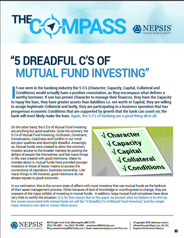 5 Dreadful C's of Mutual Fund Investing