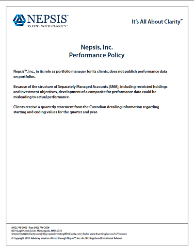 Nepsis Performance Policy