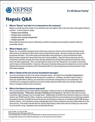 Nepsis Q&A